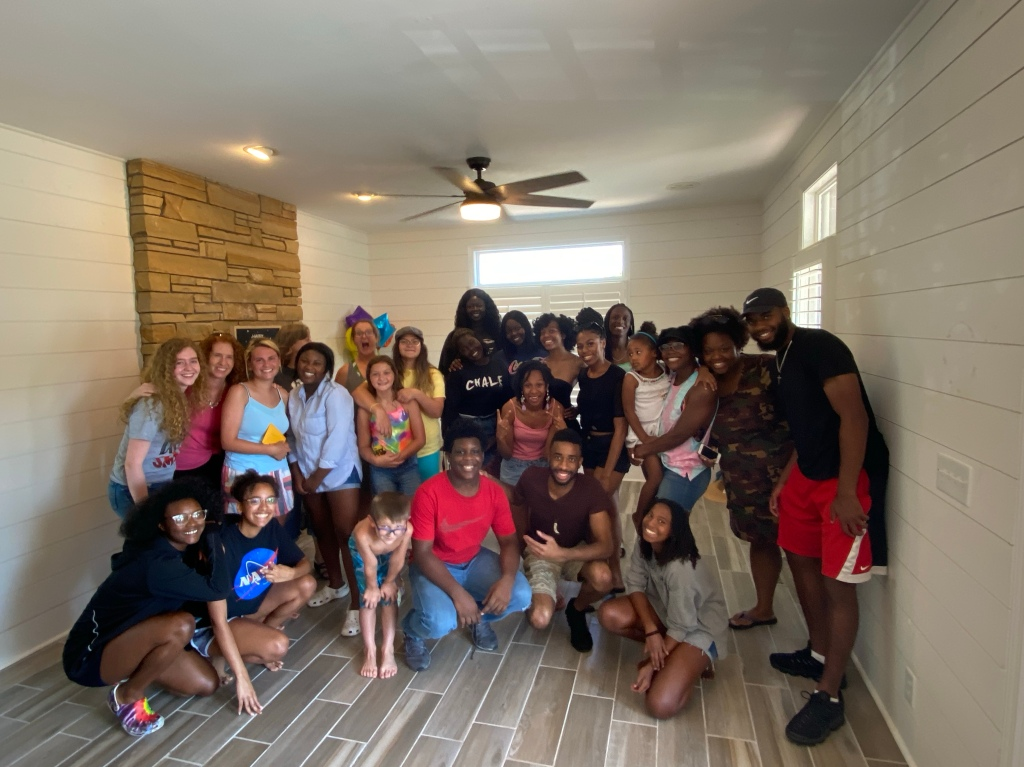 Poolhouse, surprise party, summer, diversity, racial reconciliation, Every Nation, ENC, Tennessee, Middle Tennessee, shiplap
